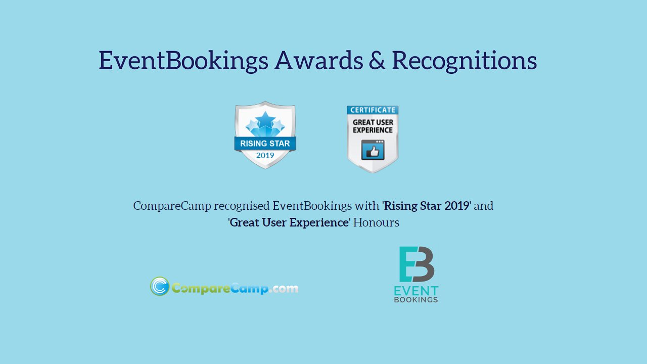 CompareCamp awarded EventBookings 2019